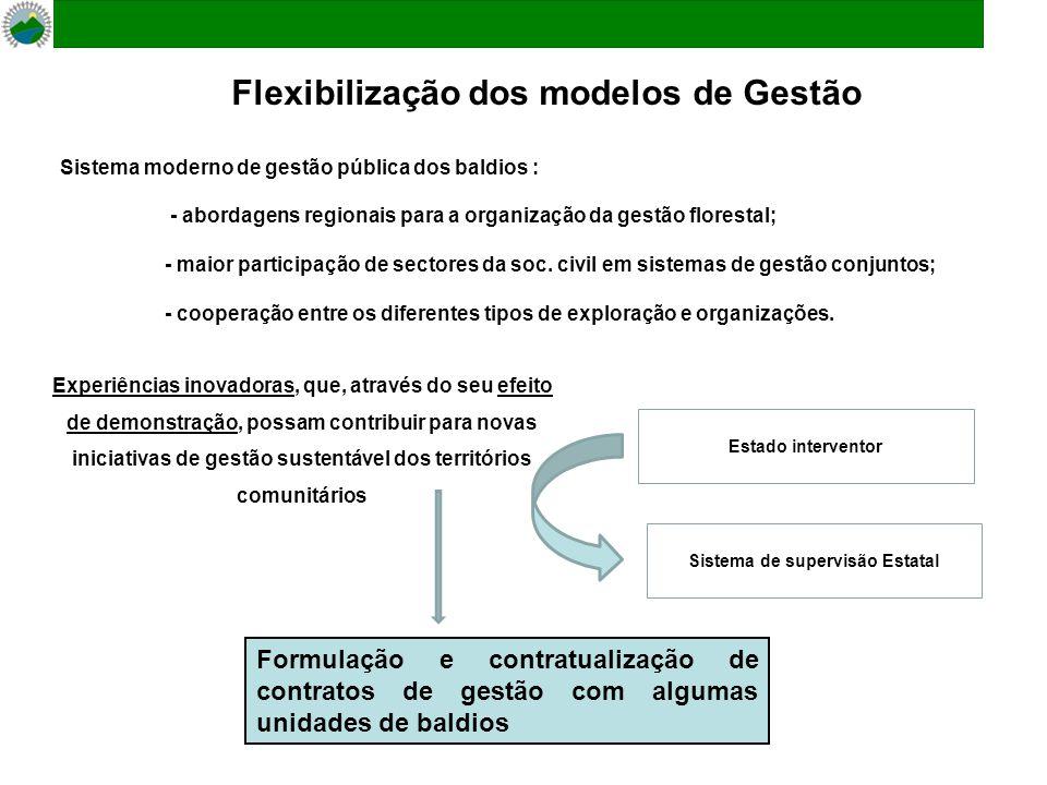 Sistema moderno de gestão pública dos baldios : - abordagens regionais para a organização da gestão florestal; - maior participação de sectores da soc