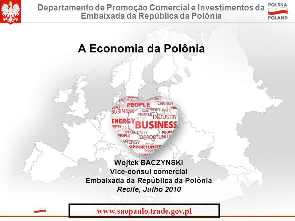 A Economia da Polônia Wojtek BACZYNSKI Vice-consul comercial Embaixada da República da Polônia Recife, Julho 2010 Departamento de Promoção Comercial e Investimentos da Embaixada da República da Polônia www.saopaulo.trade.gov.pl