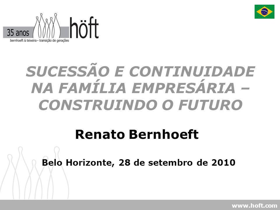 www.hoft.com SUCESSÃO E CONTINUIDADE NA FAMÍLIA EMPRESÁRIA – CONSTRUINDO O FUTURO Belo Horizonte, 28 de setembro de 2010 Renato Bernhoeft