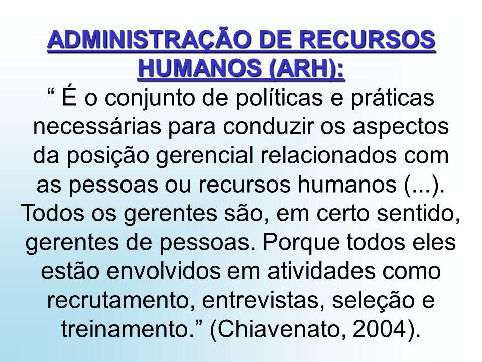 Chiavenato (2000, p.147) nos diz que: O profissional de Recursos Humanos é um executivo encontrado nas grandes e médias organizações.