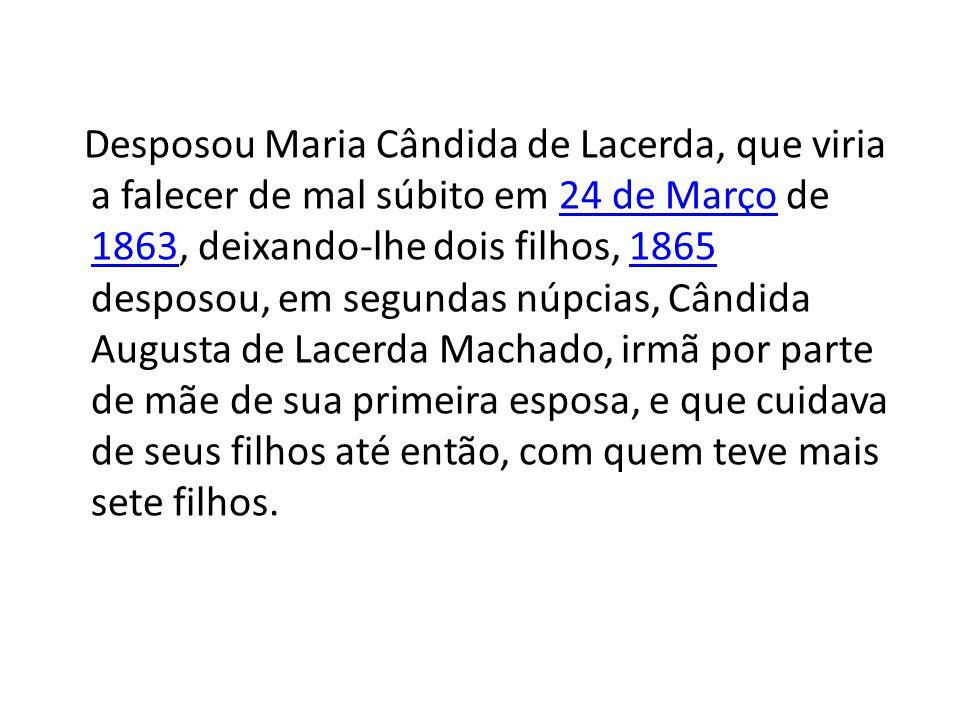 Conheceu a Doutrina Espírita quando do lançamento da tradução em língua portuguesa de O Livro dos Espíritos (sem data, em 1875), através de um exemplar que lhe foi oferecido com dedicatória pelo seu tradutor, o também médico Dr.