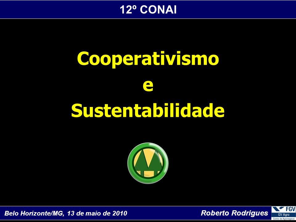 12º CONAI Belo Horizonte/MG, 13 de maio de 2010 Roberto Rodrigues Cooperativismo e Sustentabilidade