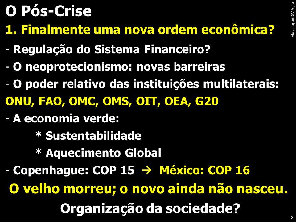 O Pós-Crise 1.Finalmente uma nova ordem econômica.