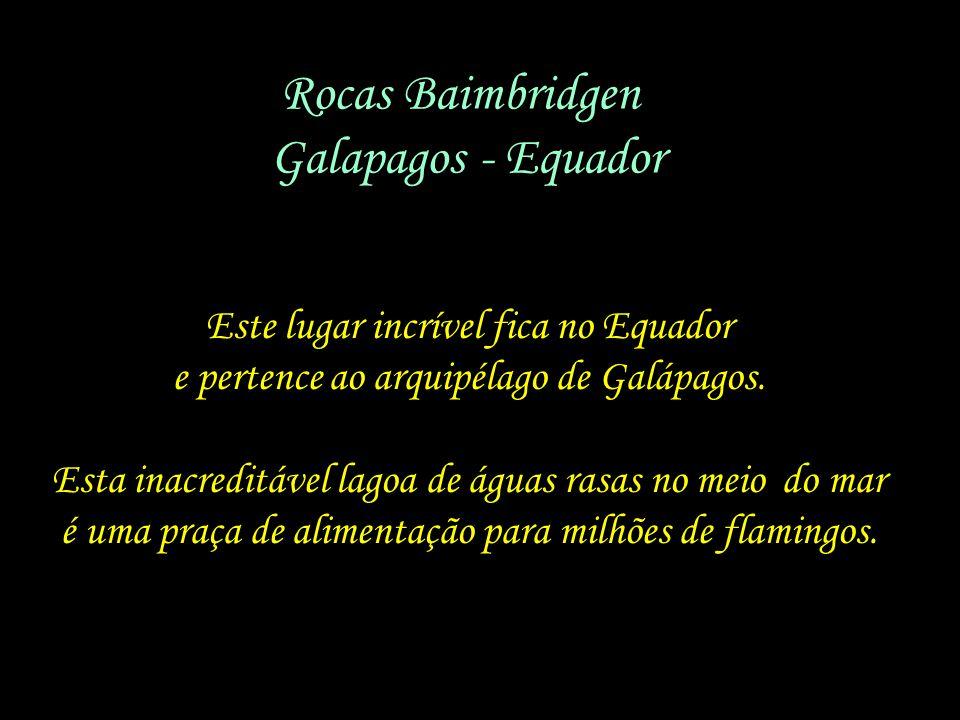 Rocas Baimbridgen - Galapagos - Equador Este lugar incrível fica no Equador e pertence ao arquipélago de Galápagos.