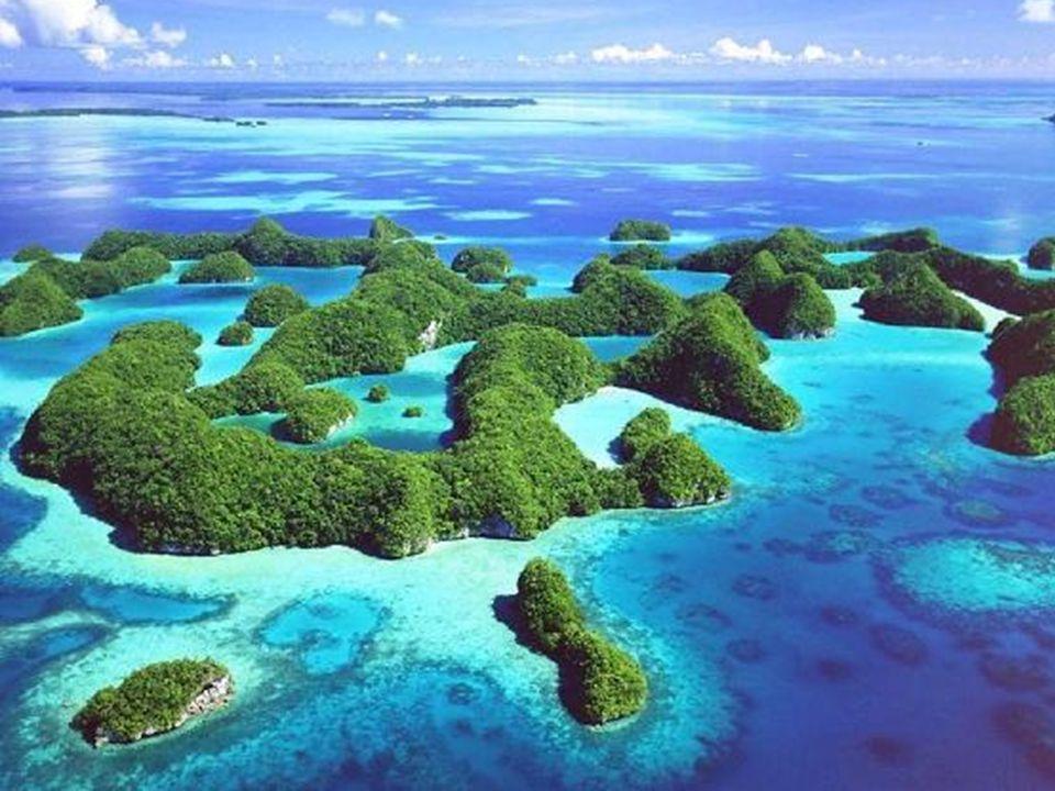 Rocas Baimbridgen - Galapagos - Equador De longe, Palau é um dos mais belos e exóticos rincões do planeta. O mar cristalino, as rochas cobertas de veg