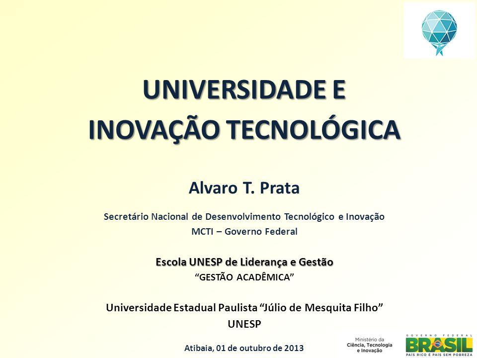UNIVERSIDADE E INOVAÇÃO TECNOLÓGICA Alvaro T.