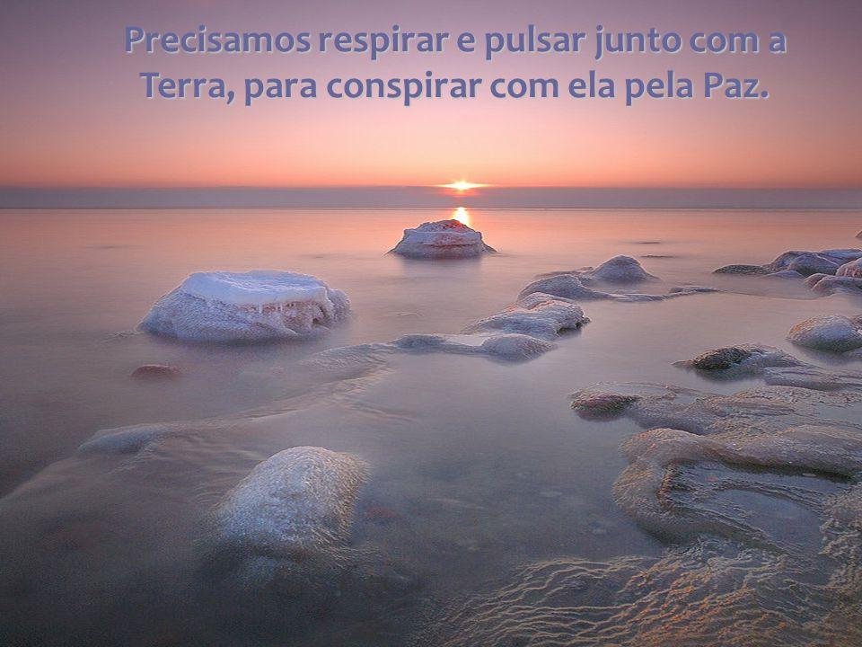 Precisamos respirar e pulsar junto com a Terra, para conspirar com ela pela Paz.