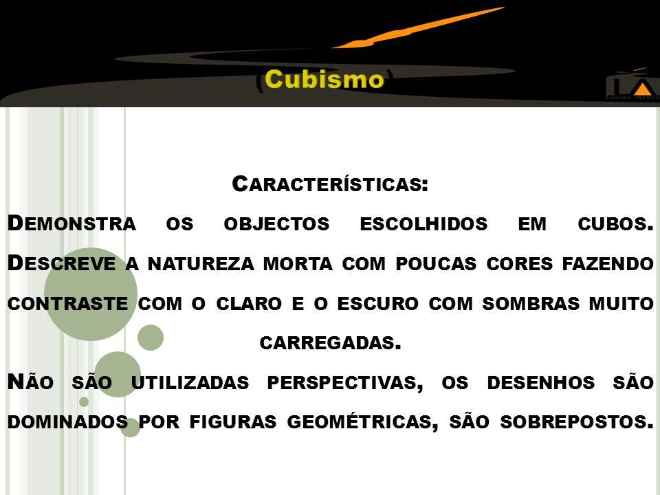 C ARACTERÍSTICAS : D EMONSTRA OS OBJECTOS ESCOLHIDOS EM CUBOS.