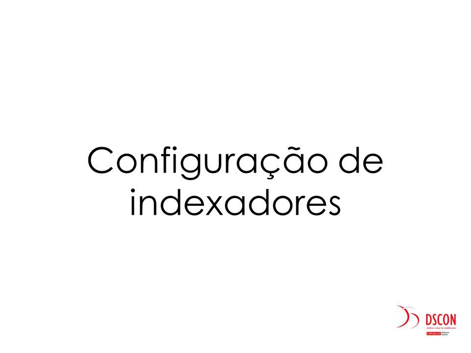 Configuração de indexadores