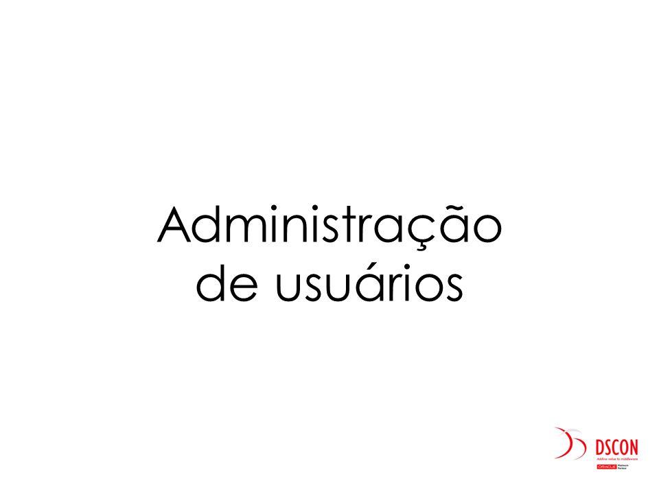 Administração de usuários