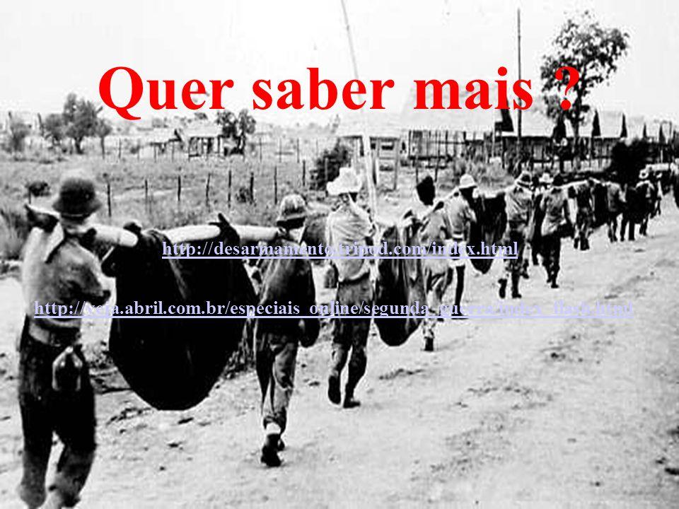 Quer saber mais ? http://desarmamento.tripod.com/index.html http://veja.abril.com.br/especiais_online/segunda_guerra/index_flash.html