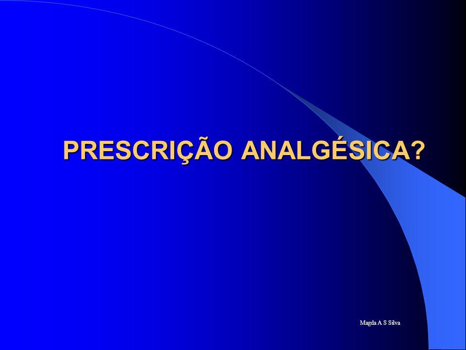 Magda A S Silva Recomendações analgesia horário.