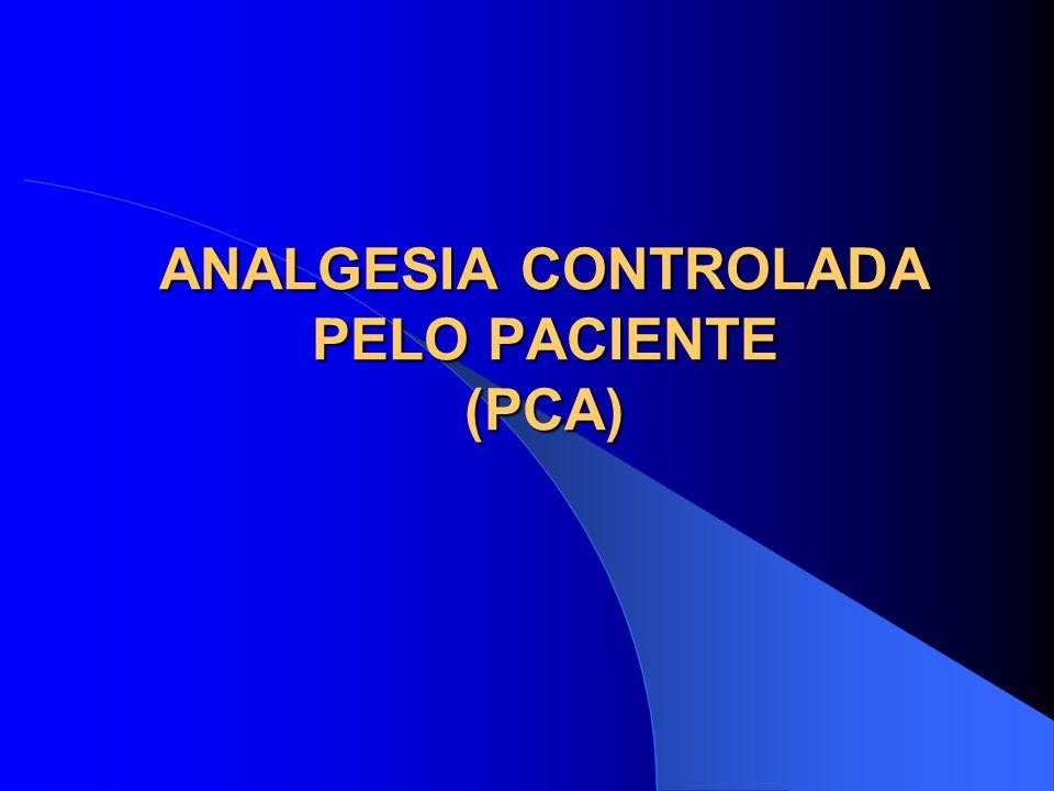 ANALGESIA CONTROLADA PELO PACIENTE (PCA)