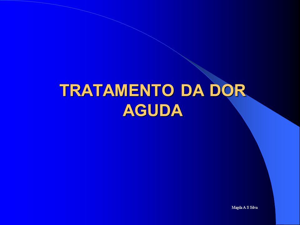 Magda A S Silva TRATAMENTO DA DOR AGUDA MONITORIZAÇÃO DA DOR AGUDA avaliação da dor aguda conduta analgésica efeitos colaterais e tratamento envolvimento multiprofissional estado emocional do paciente