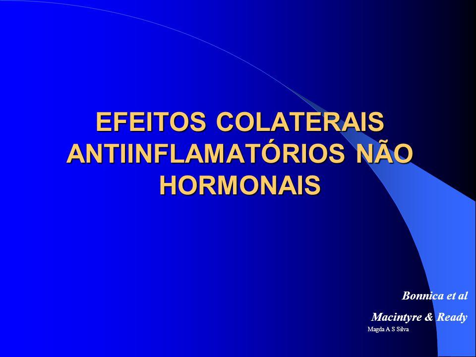 Magda A S Silva Conduta Reações alérgicas: observar queixas Gastrite, úlcera, esofagite: queixa de asia/epigastralgia, presença de melena.