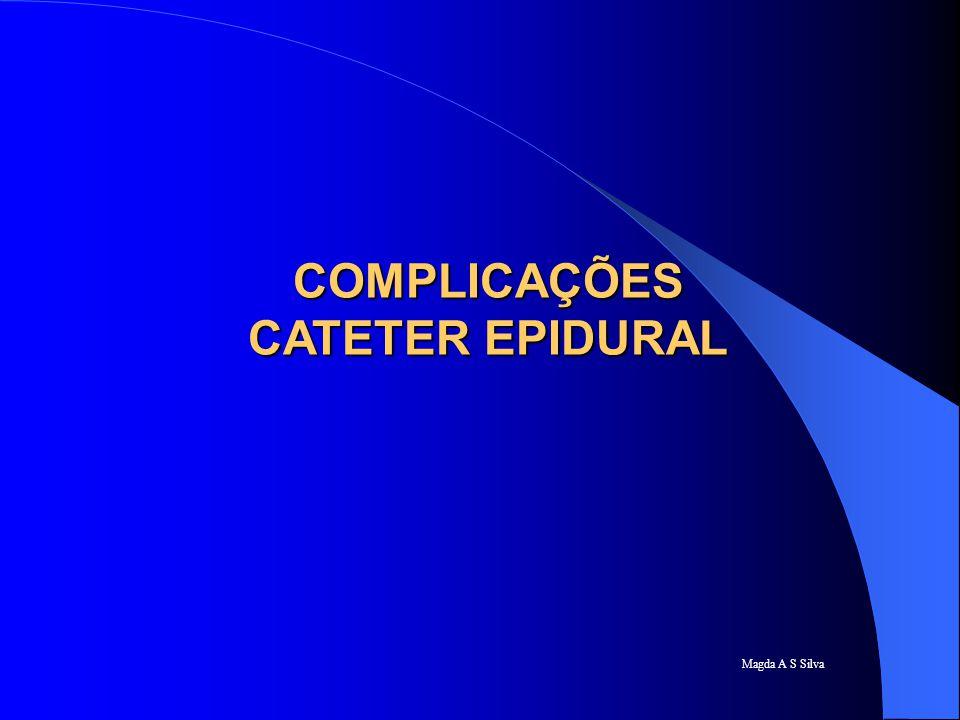 Magda A S Silva COMPLICAÇÕES CATETER EPIDURAL