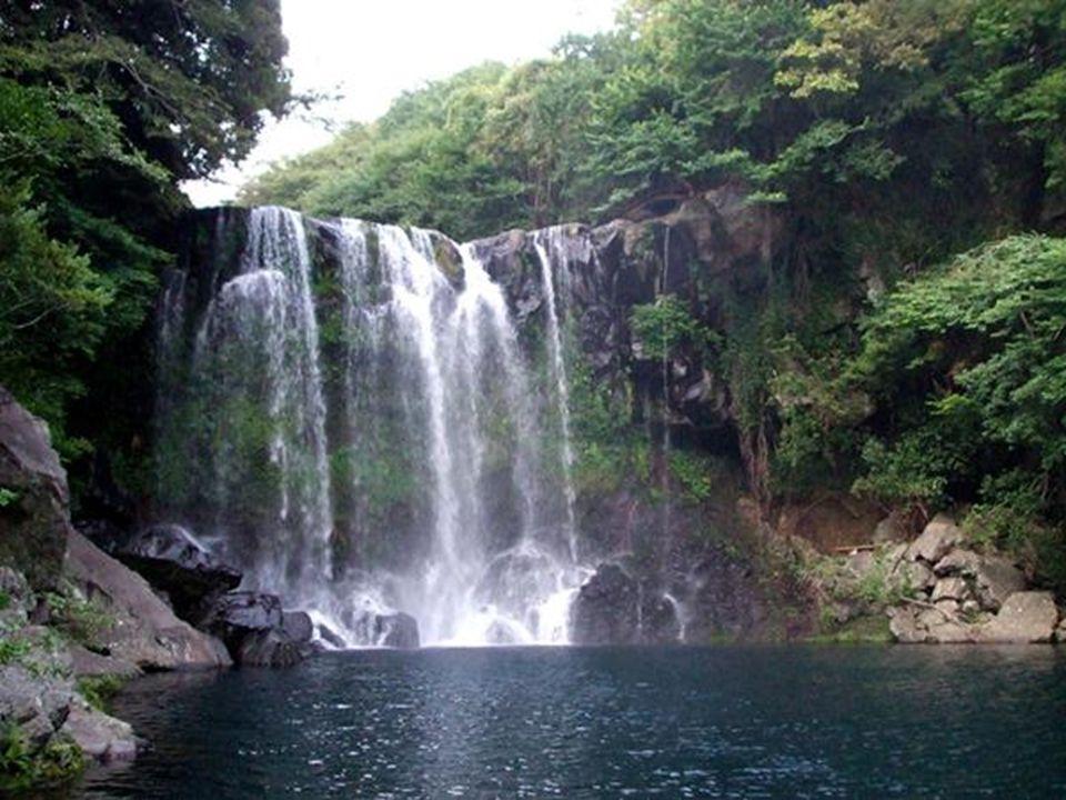 Além do Halla-san e dos tubos de lava, Jeju oferece as Cataratas Cheonjeyeon e a Catarata Cheonjiyeon. Quem passeia por Cheonjiyeon caminha por uma tr