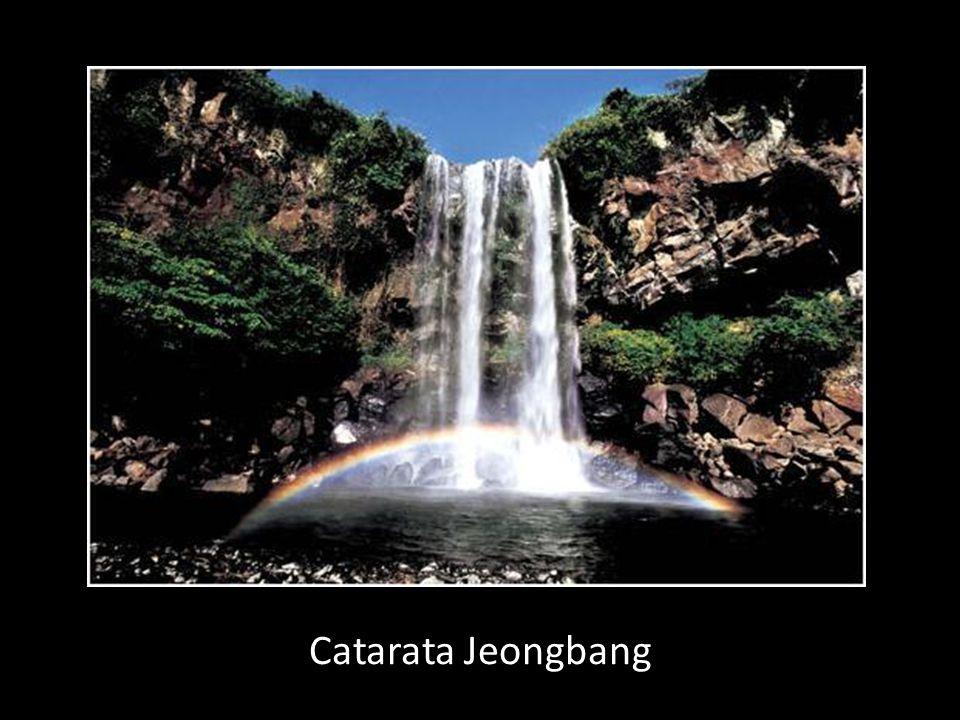Catarata Jeongbang - única na Ásia com águas provenientes do oceano
