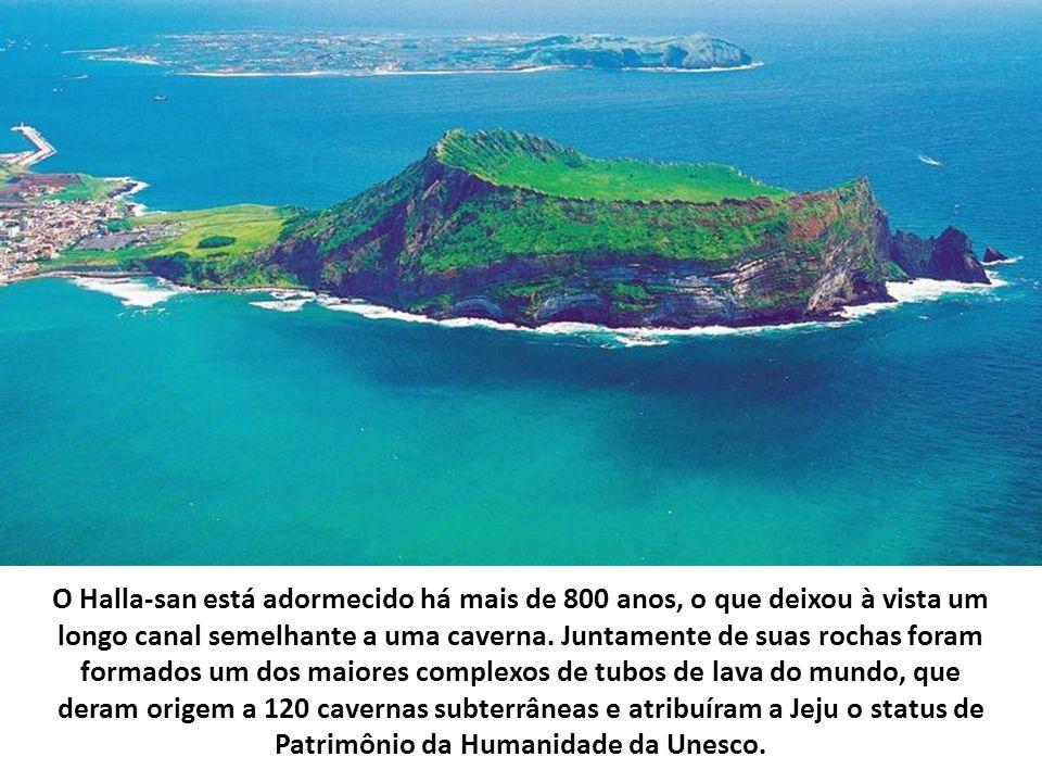 Sistema de tubos de lava, cavernas formadas por antigos rios de lava e numerosas torres de lava petrificada
