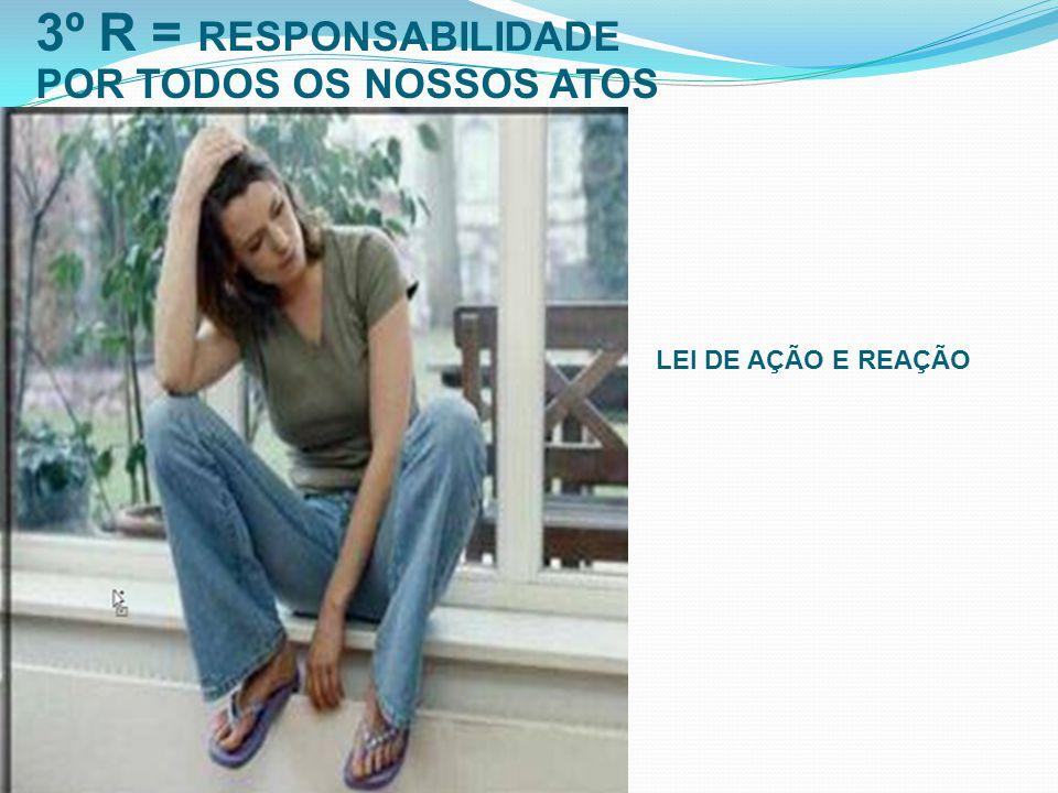 3º R = RESPONSABILIDADE POR TODOS OS NOSSOS ATOS LEI DE AÇÃO E REAÇÃO