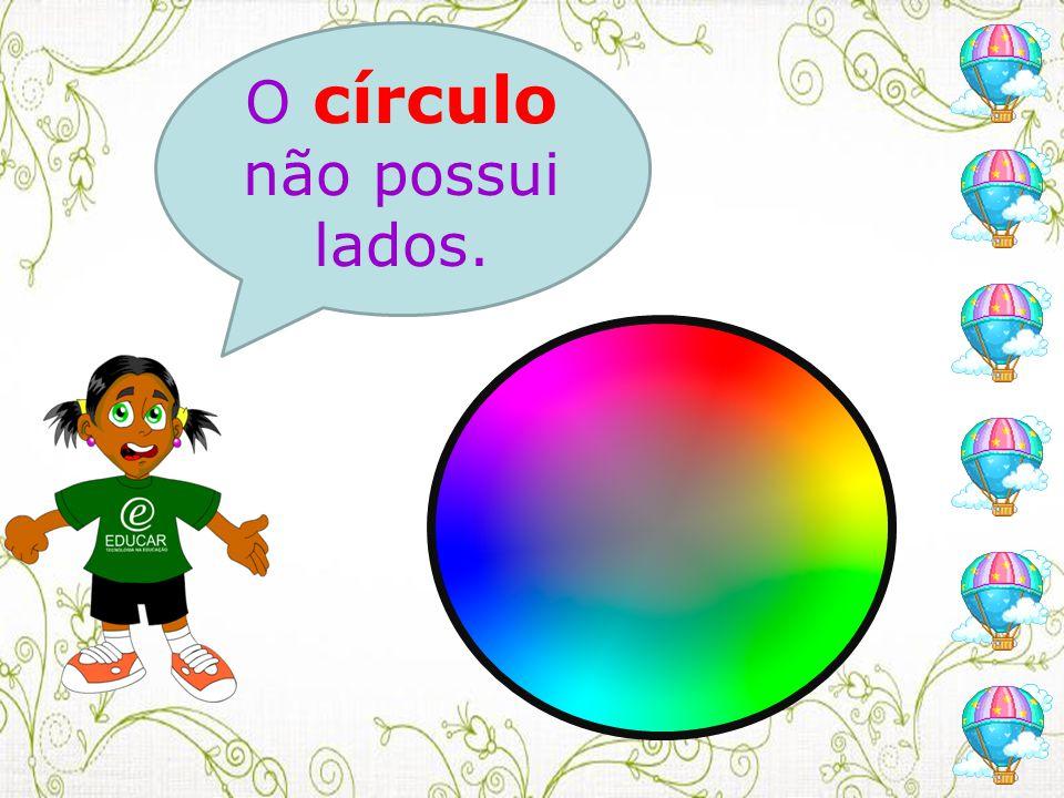 O círculo não possui lados.