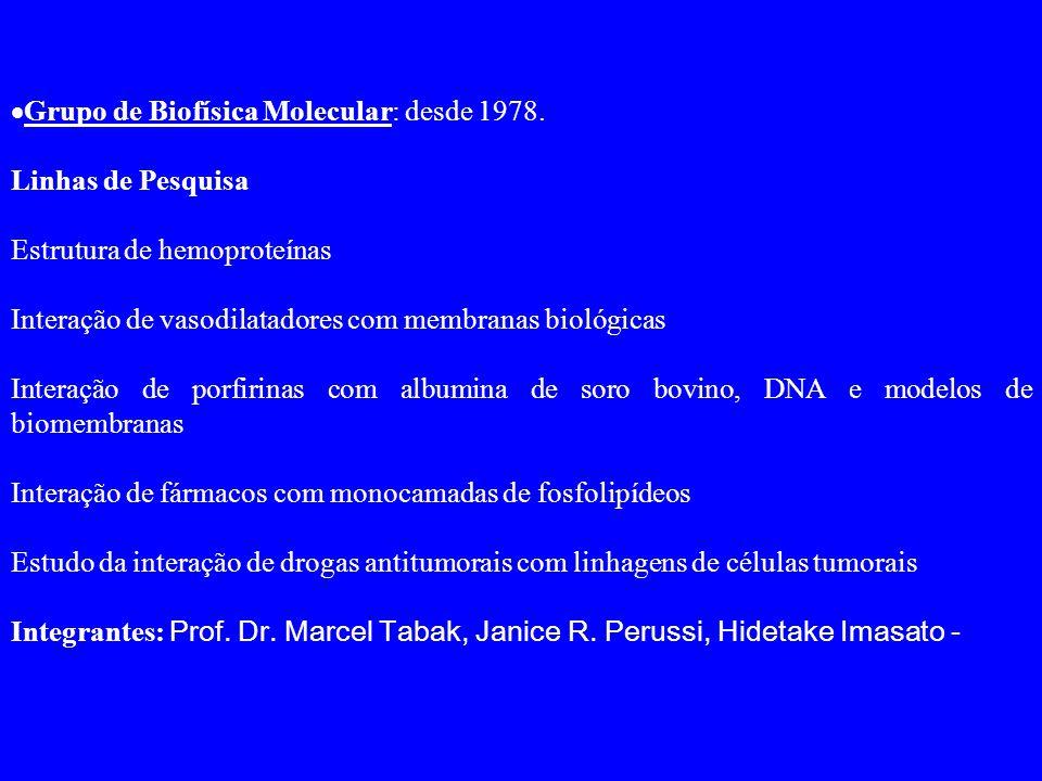  Grupo de Biofísica Molecular: desde 1978.
