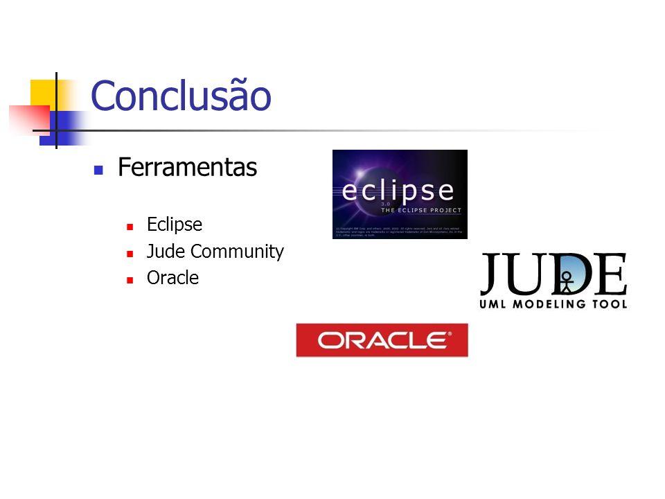Conclusão Ferramentas Eclipse Jude Community Oracle