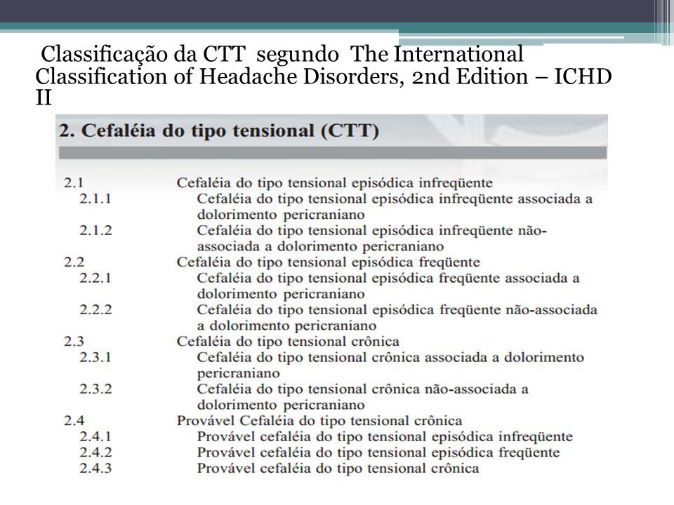 Classificação da CTT segundo The International Classification of Headache Disorders, 2nd Edition – ICHD II