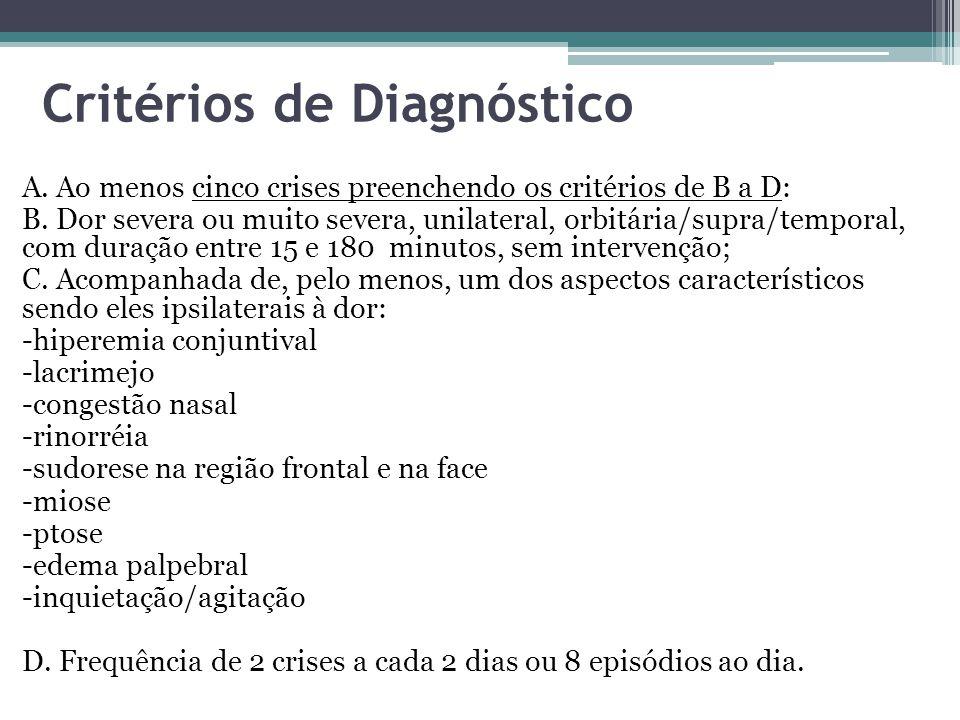 Critérios de Diagnóstico A.Ao menos cinco crises preenchendo os critérios de B a D: B.