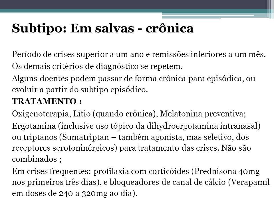 Subtipo: Em salvas - crônica Período de crises superior a um ano e remissões inferiores a um mês.