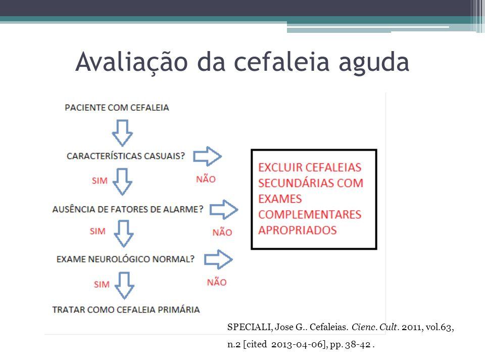 Avaliação da cefaleia aguda SPECIALI, Jose G..Cefaleias.