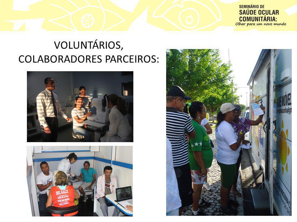 VOLUNTÁRIOS, COLABORADORES PARCEIROS: