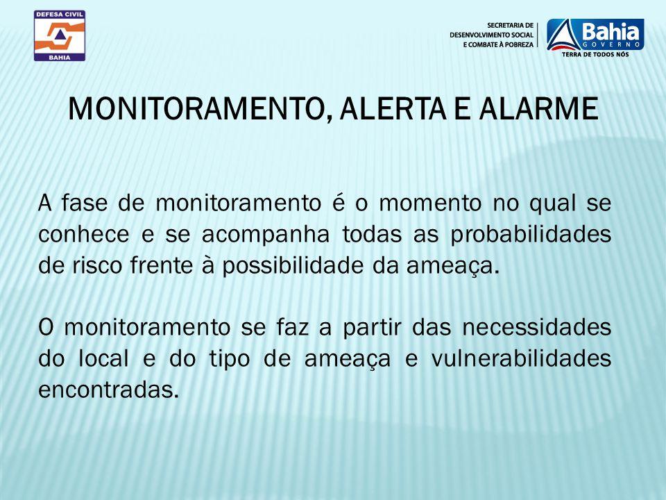 A fase de monitoramento é o momento no qual se conhece e se acompanha todas as probabilidades de risco frente à possibilidade da ameaça. O monitoramen