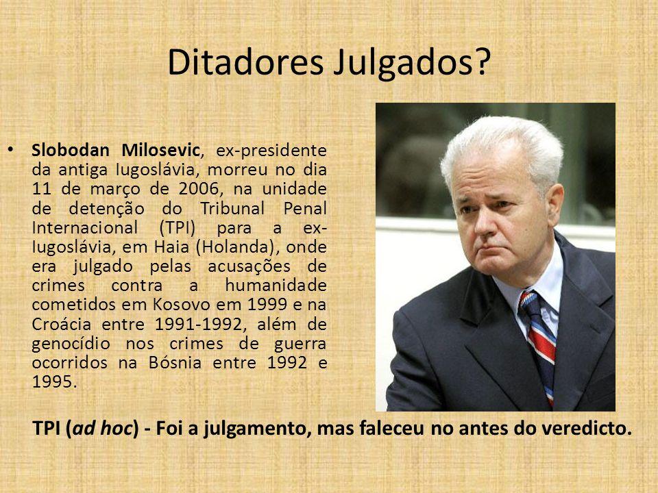 Ditadores Julgados.