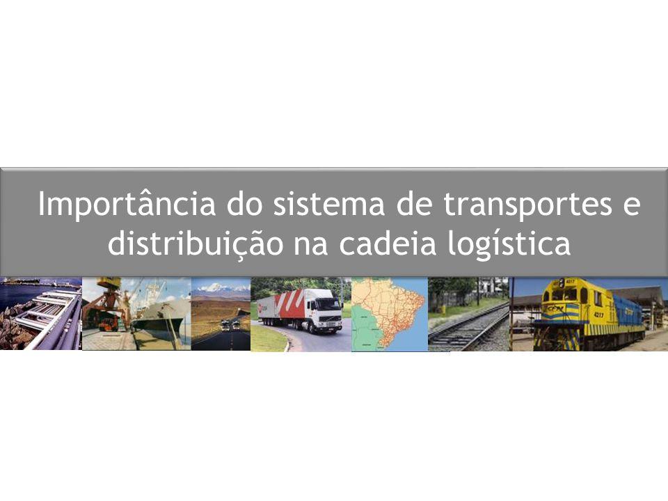 Importância do sistema de transportes e distribuição na cadeia logística