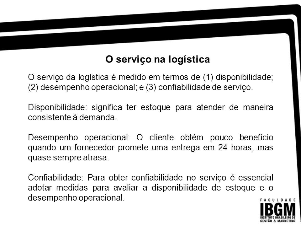 Analisando a distribuição dos custos logísticos, verifica-se que 65% deste custo corresponde a atividade de transporte.