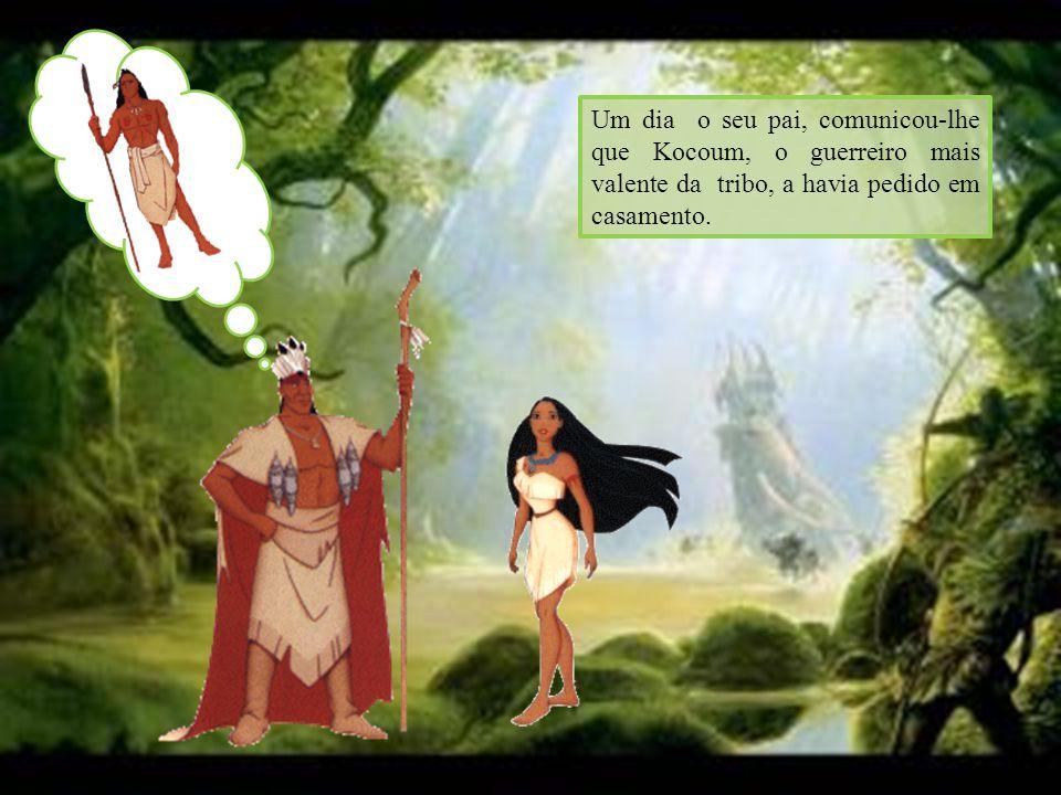 Pocahontas, ficou confusa e foi pedir conselhos à avó Willow, um velho espírito que habitava uma árvore na floresta encantada.