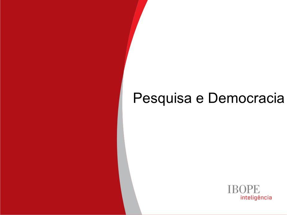 Pesquisa e Democracia