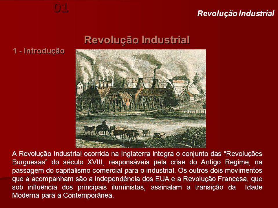 """História. Aula 01 Revolução Industrial 1 - Introdução Revolução Industrial A Revolução Industrial ocorrida na Inglaterra integra o conjunto das """"Revol"""