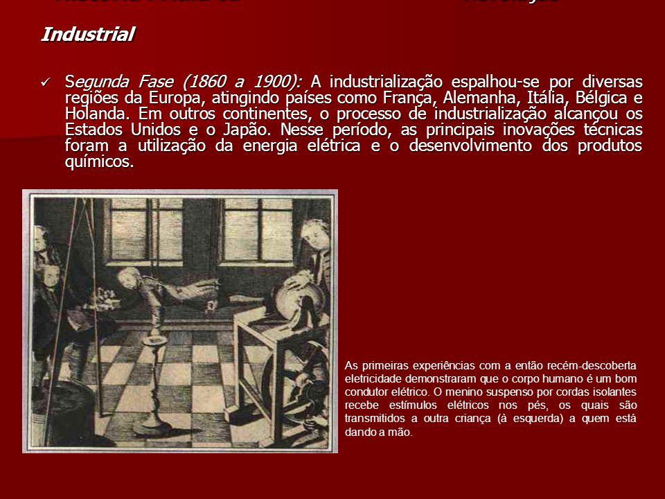 História. Aula 01 Revolução Industrial História. Aula 01 Revolução Industrial Segunda Fase (1860 a 1900): A industrialização espalhou-se por diversas