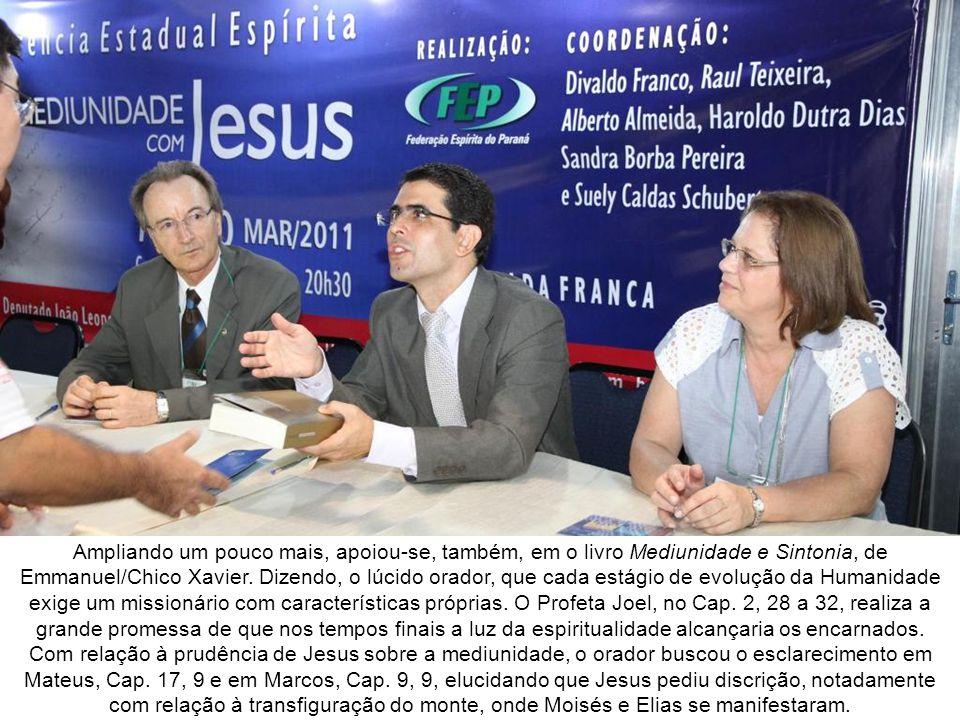 Conferência de Haroldo Dutra Dias O conferencista mineiro de Belo Horizonte, Haroldo Dutra Dias apresentou o tema Mediunidade nos Evangelhos.