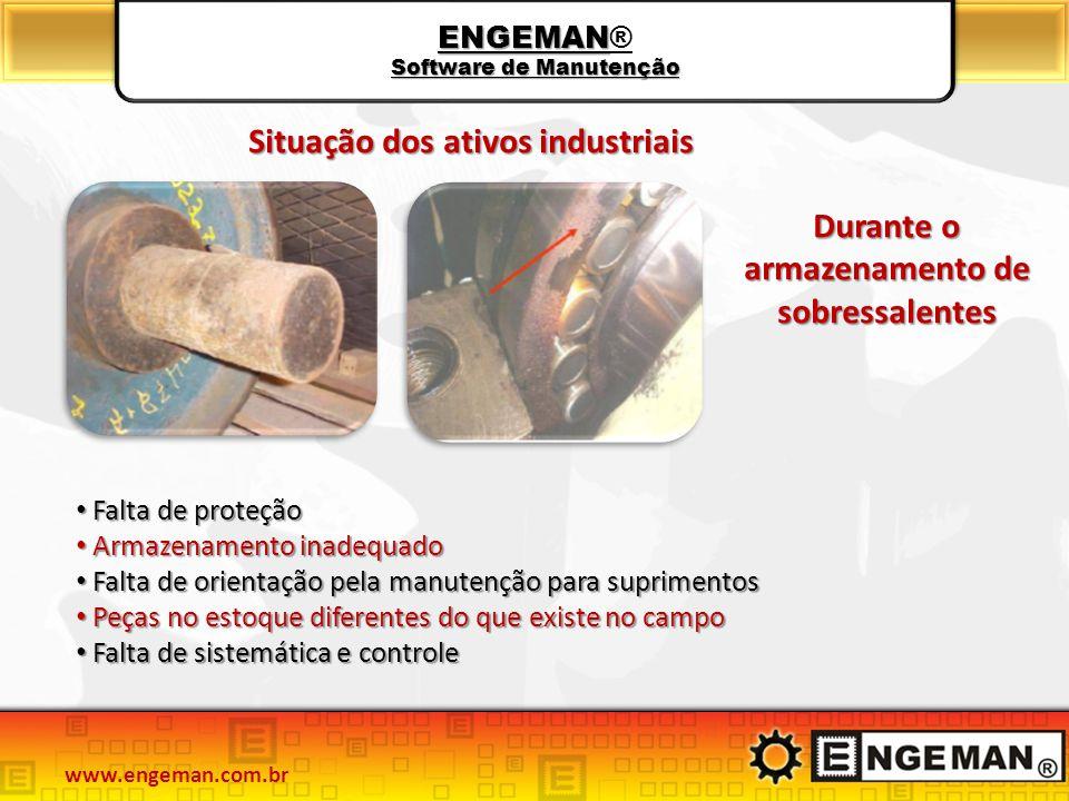 ENGEMAN Software de Manutenção ENGEMAN® Software de Manutenção Situaçãodosativosindustriais Situação dos ativos industriais Durante o armazenamento de