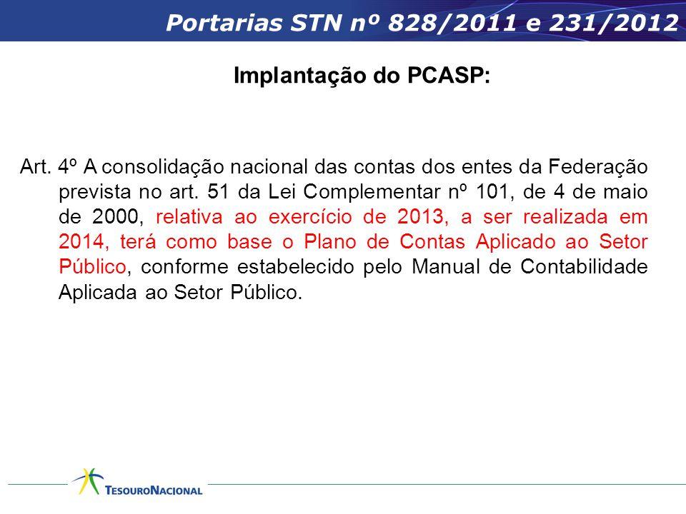 Art.4º A consolidação nacional das contas dos entes da Federação prevista no art.