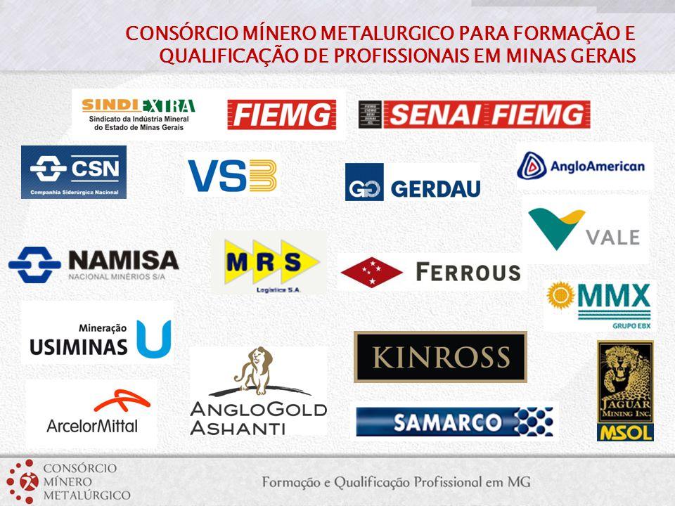 DIMENSÃO DO CONSÓRCIO Todas as empresas juntas representam: 453.000 Número de Empregados Mundo 139.000 Número de Empregados Brasil 70.000 Número de Empregados Minas Gerais 124.000 Número de Empregos Indiretos em Minas Gerais R$ 132 bilhões Faturamento Bruto R$ 36 bilhões Valor de Investimentos Previstos em Minas nos próximos 5 anos