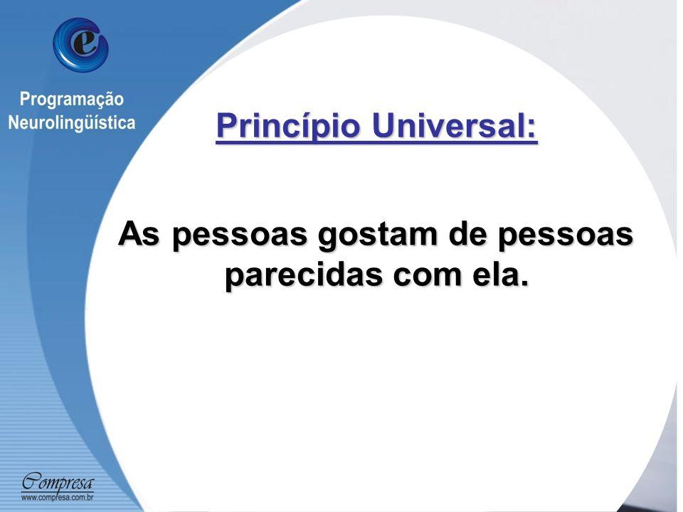 Princípio Universal: As pessoas gostam de pessoas parecidas com ela.