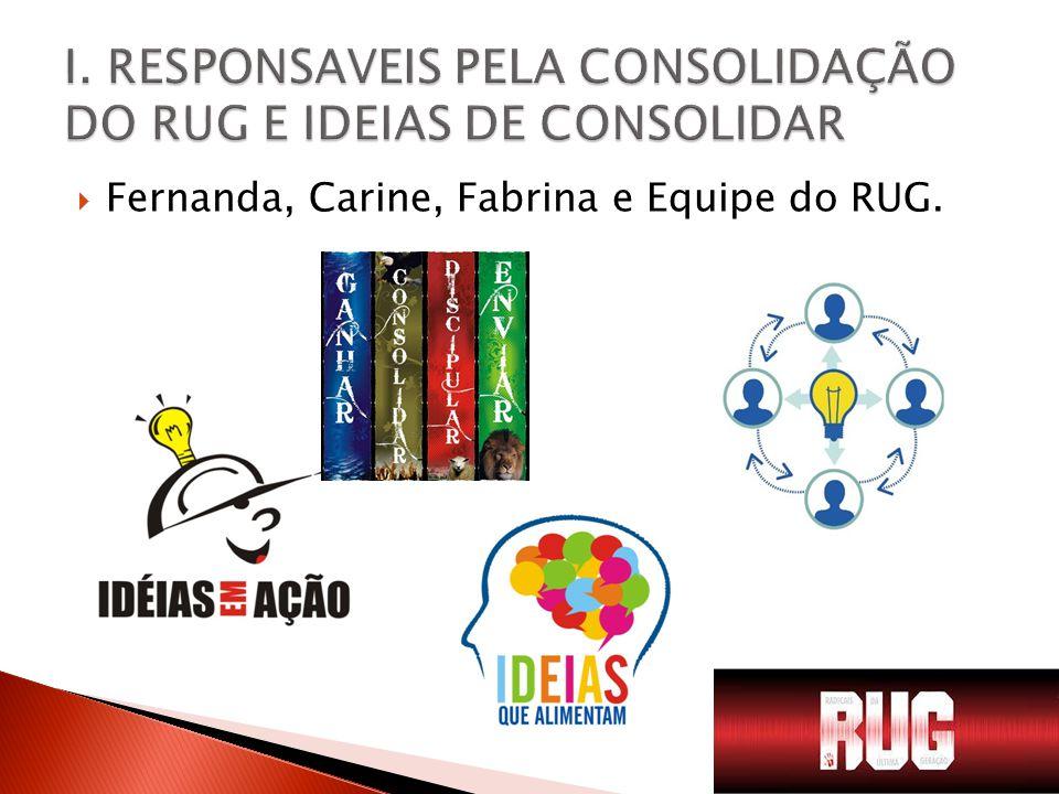  Fernanda, Carine, Fabrina e Equipe do RUG.