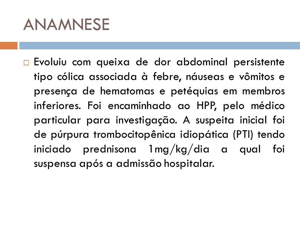 DIAGNÓSTICO  PTI Primária  Trombocitopenia isolada* (plaquetas < 100.000u/L)  Sem causa identificada  PTI Secundária  Trombocitopenia isolada* (plaquetas < 100.000u/L)  Identificação de doença auto-imune de base * Trombocitopenia isolada = ausência de anemia, contagem de leucócitos normais e esfregaço sanguíneo periférico normal.