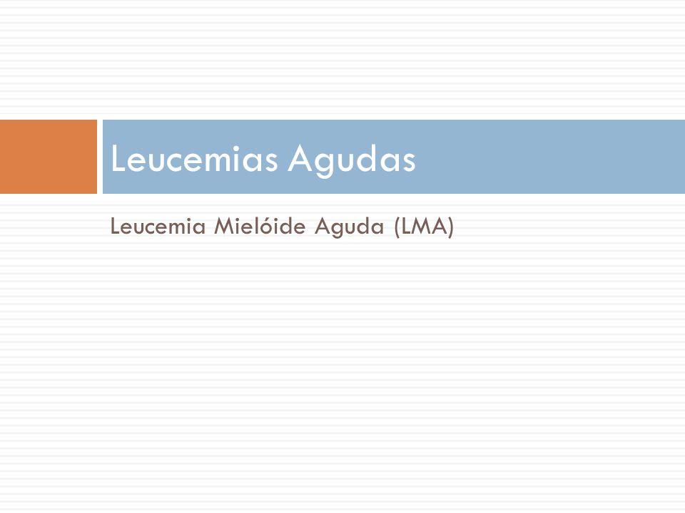 Leucemia Mielóide Aguda (LMA) Leucemias Agudas