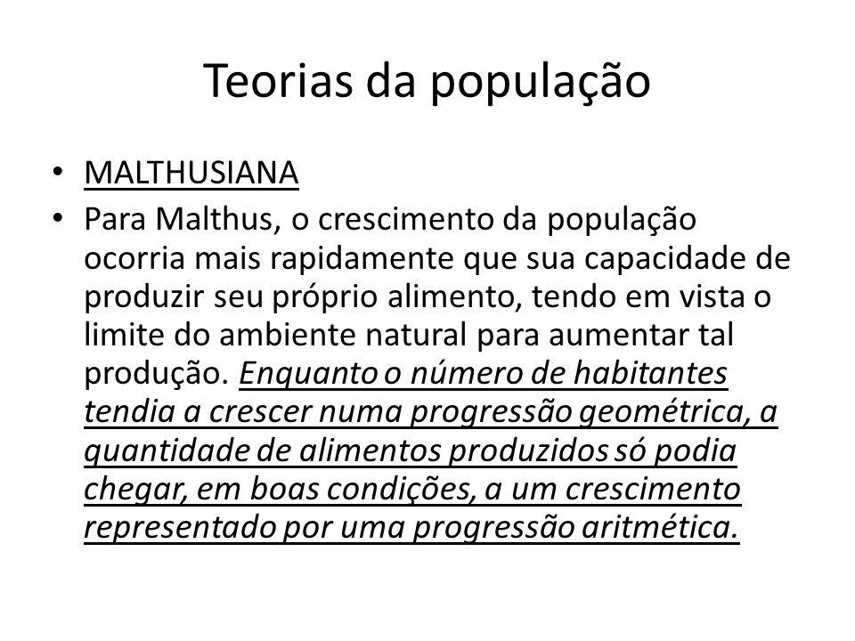 neomalthusianos Passaram a ligar o subdesenvolvimento econômico às altas taxas de crescimento populacional.