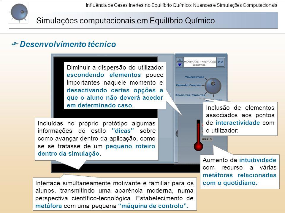 Influência de Gases Inertes no Equilíbrio Químico: Nuances e Simulações Computacionais Simulações computacionais em Equilíbrio Químico  Desenvolvimen